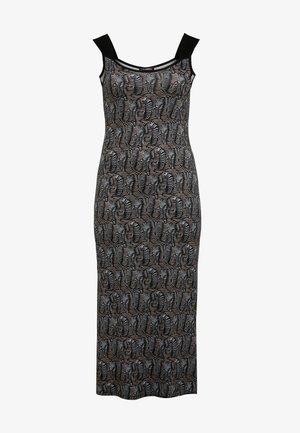 MIT ALLOVER MUSTER - Maxi dress - hellblau