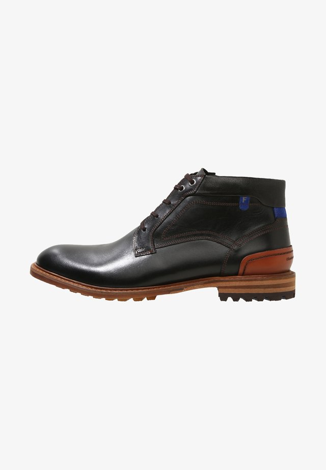 CREPI CUP - Bottines à lacets - black/cognac