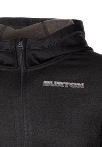 Burton - OAK - Mikina na zip - true black heather - 2