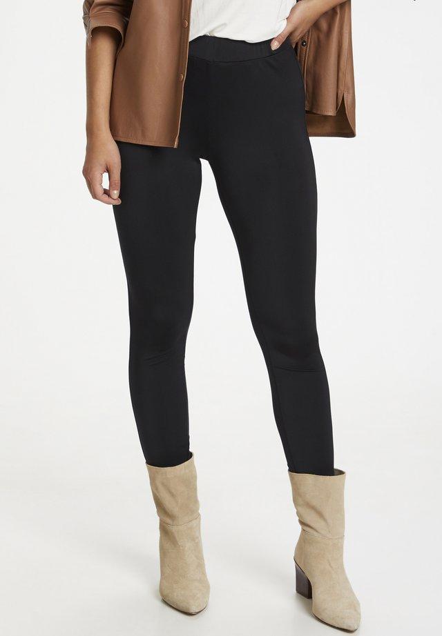 Leggings - Trousers - black deep