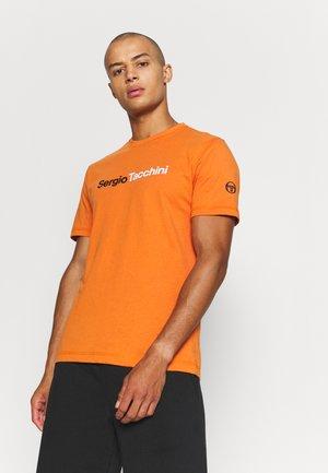 ROBIN - T-shirt print - orange/white