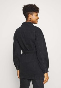 JDY - JDYSANSA BELTED JACKET  - Short coat - black denim - 2