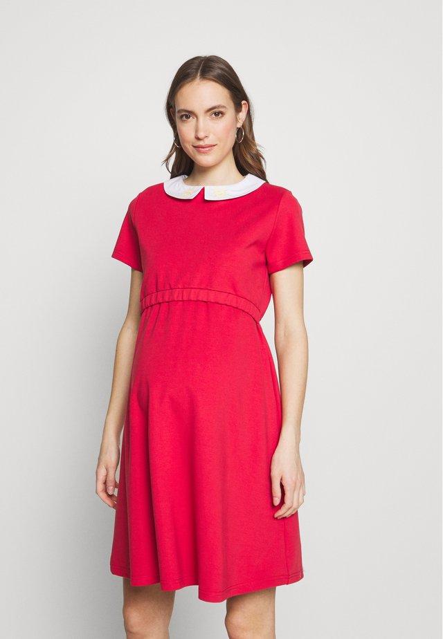 COLETTE - Jersey dress - corail