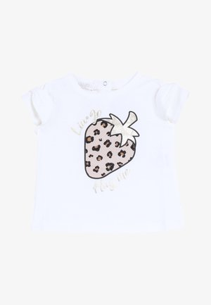 WITH STRAWBERRY - T-shirt print - white