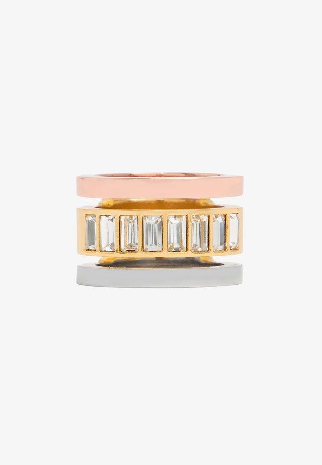 WIDE CRYSTAL BANDS  - Ring - multigold
