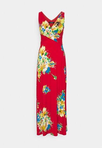 AARIANE SLEEVELESS DAY DRESS - Maxi dress - hibiscus/yellow/multi