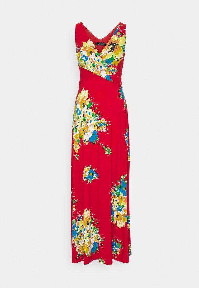 AARIANE SLEEVELESS DAY DRESS - Długa sukienka - hibiscus/yellow/multi