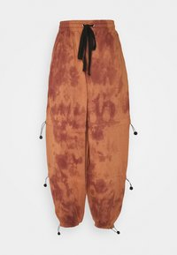 Missguided - TIE DYE DETAIL JOGGERS - Tracksuit bottoms - brown - 0