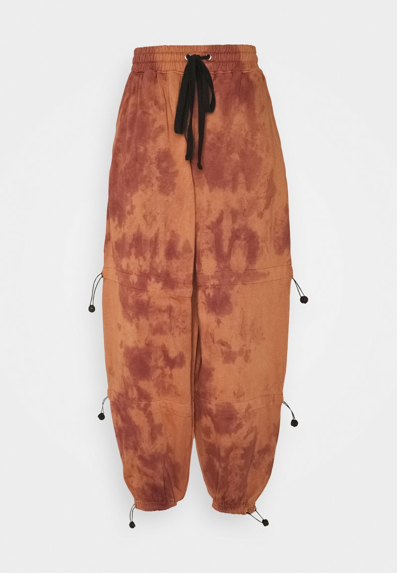 Missguided - TIE DYE DETAIL JOGGERS - Tracksuit bottoms - brown