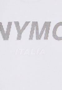Antony Morato - SUPER SLIM FIT WITH PINS BICOLOUR LOGO - Camiseta estampada - bianco - 5