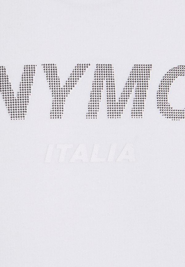 Antony Morato SUPER SLIM FIT WITH PINS BICOLOUR LOGO - T-shirt z nadrukiem - bianco/biały Odzież Męska NIGO