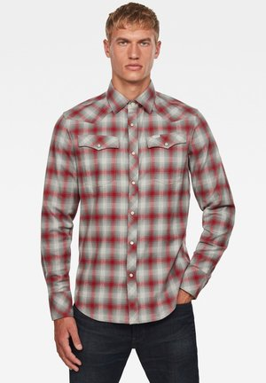 3301 SLIM - Shirt - dry red jack check