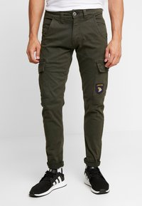 Alpha Industries - PETROL PATCH - Cargo trousers - greyblack - 0