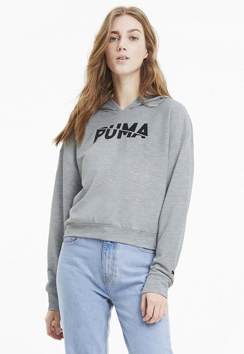 Puma - Felpa con cappuccio - light gray heather