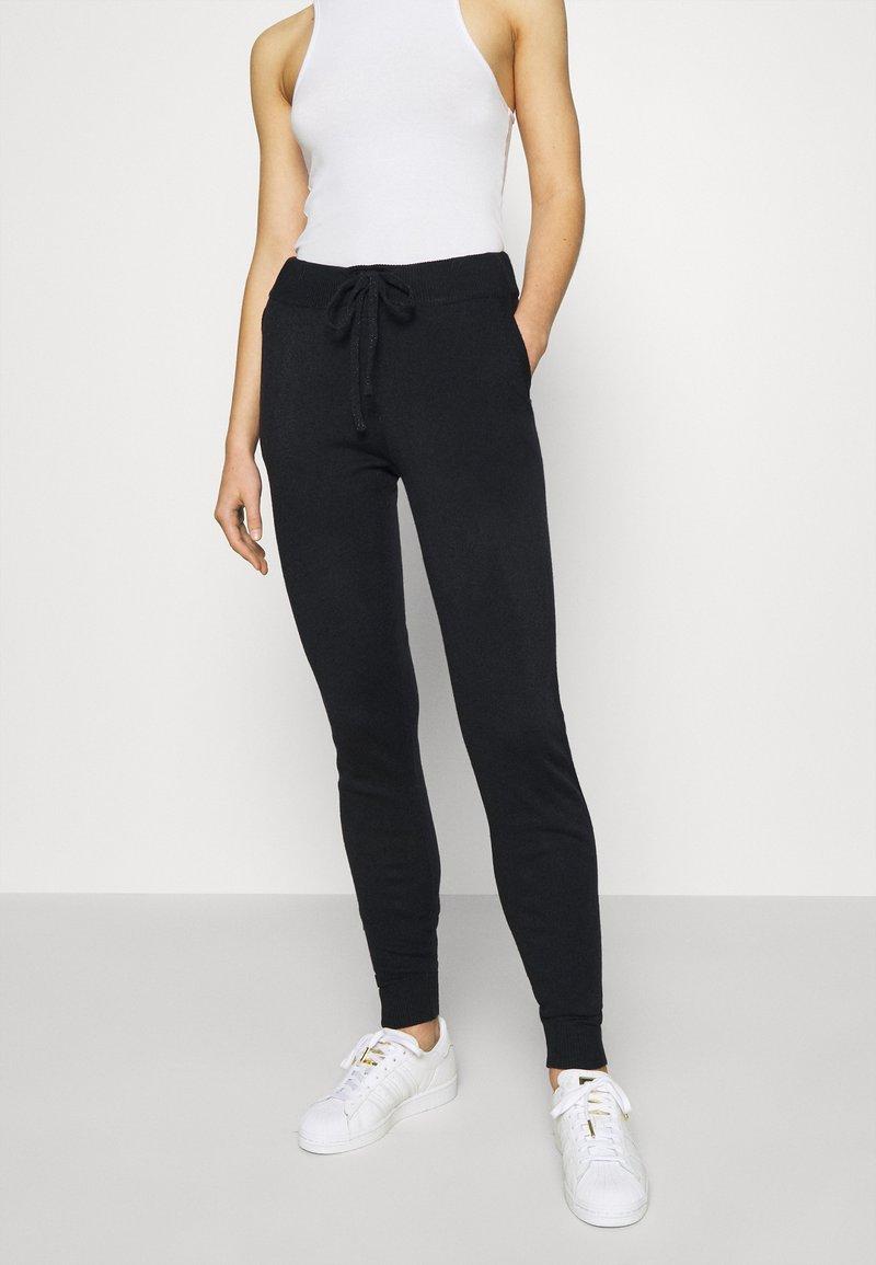 ONLY - ONLAUBREE LOOSE PANTS  - Tracksuit bottoms - dark navy