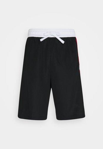 Pantaloncini sportivi - black/white/university red