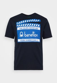 Benetton - CANNES - Triko s potiskem - dark blue - 4