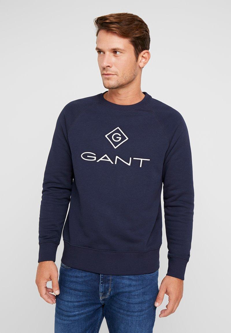 GANT - LOCK UP CREW NECK - Sweatshirt - evening blue