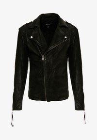 ELON BUFFED - Kožená bunda - black