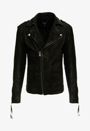 ELON BUFFED - Veste en cuir - black