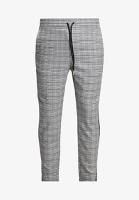 Only & Sons - ONSLINUS CROPPED CHECK TAPE PANT - Bukser - medium grey melange - 3