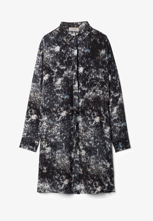 Button-down blouse - aufdruck - 8625 - stampa graffiata