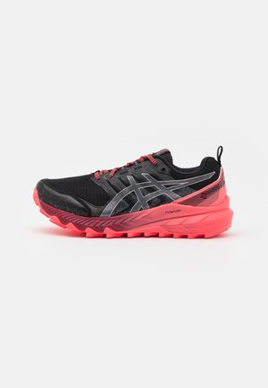 GEL TRABUCO 9 G-TX - Běžecké boty do terénu - black/pure silver