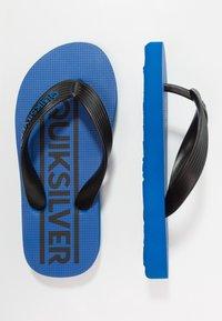 Quiksilver - JAVA WORDMARK - Varvassandaalit - black/blue - 0