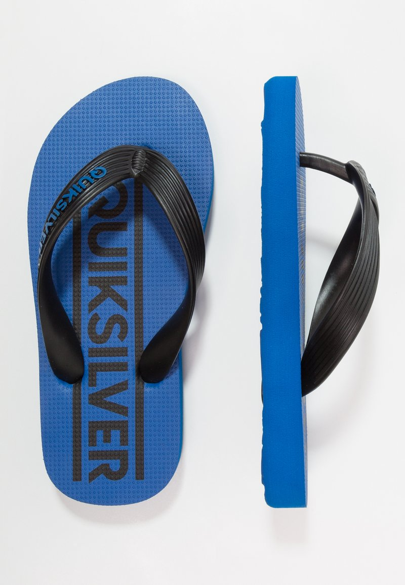 Quiksilver - JAVA WORDMARK - Varvassandaalit - black/blue