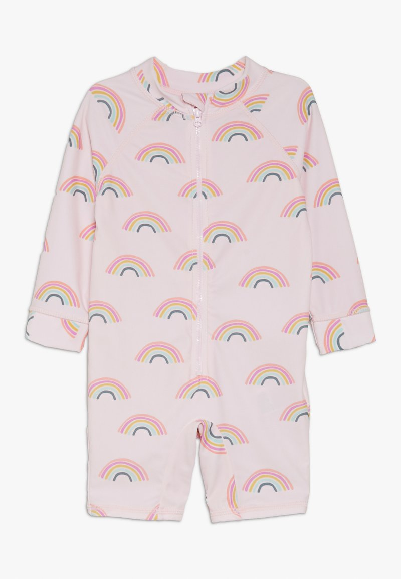 Cotton On - HARRIS ONE PIECE BABY - Plavky - barely pink rainbow dreams