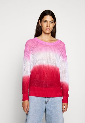 DIP DYE BEACH - Sweter - larkspur/pink/authentic red