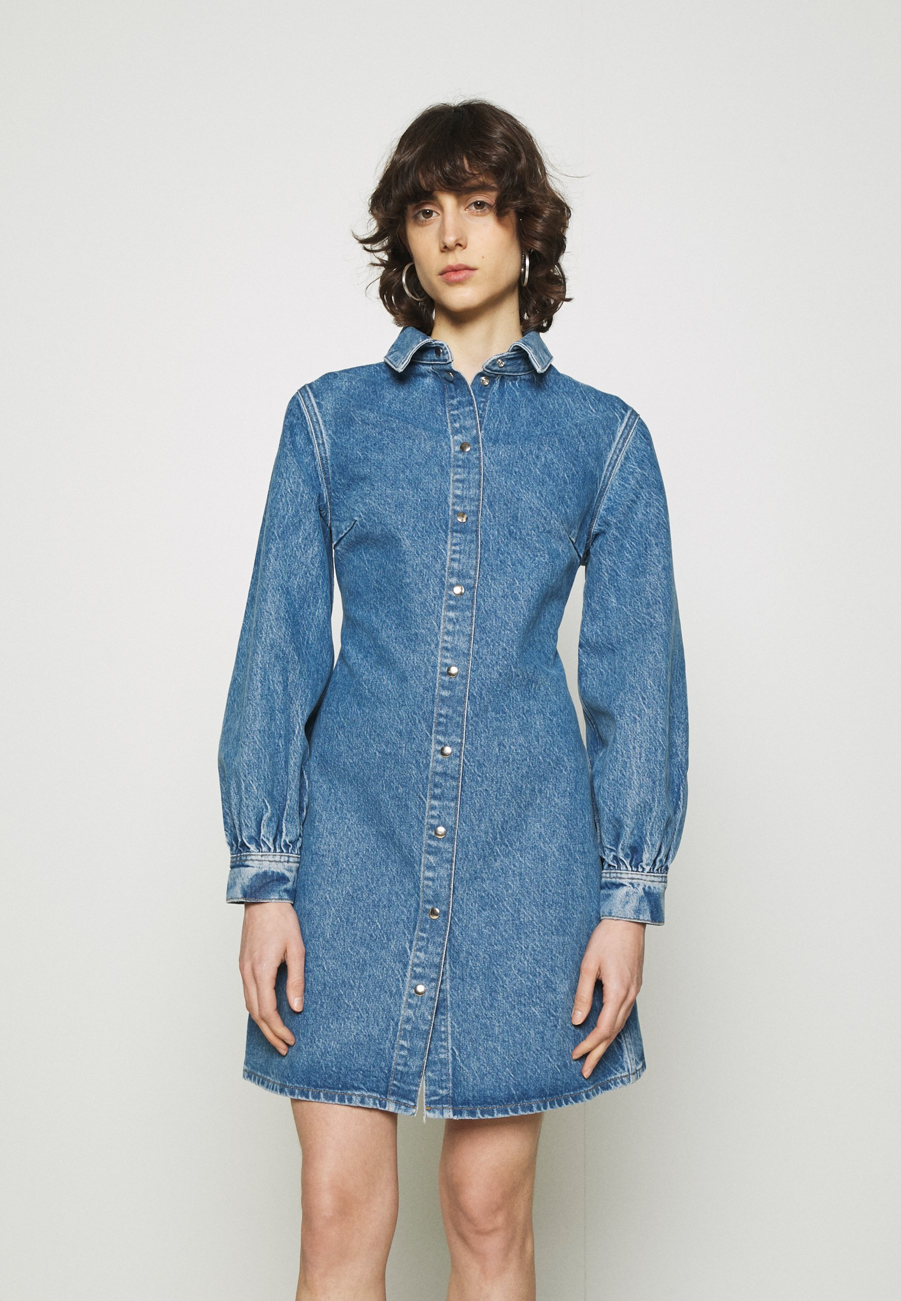 Women MOONSTONE DRESS - Denim dress