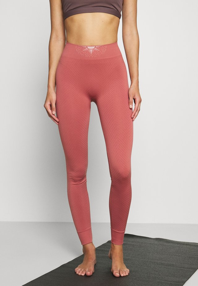 GALAXIE - Tights - terracotta