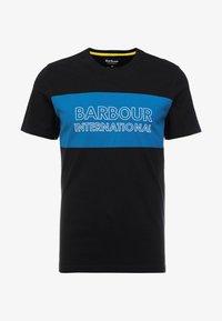 Barbour International - PANEL LOGO TEE - Print T-shirt - black - 3