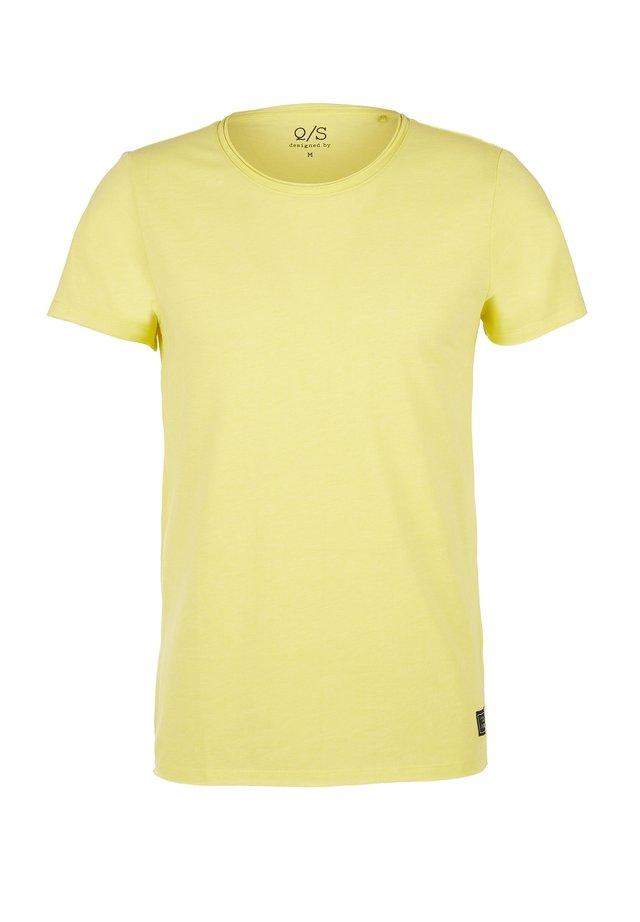 Basic T-shirt - light yellow melange