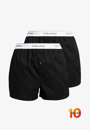 SLIM FIT 2 PACK - Boxer  - black