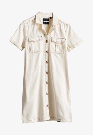 SUPERDRY KAYA UTILITY  - Denim dress - vintage white