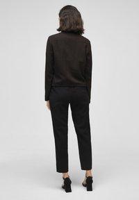 s.Oliver BLACK LABEL - MIT DURCHZUGKORDEL - Summer jacket - true black - 2