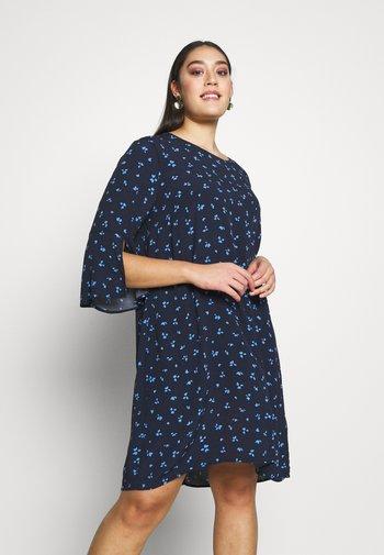 FLARE SLIT SLEEVE DRESS - Robe d'été - navy/blue