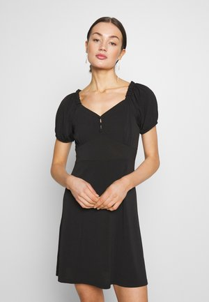 YASMONJA SHORT DRESS - Jersey dress - black