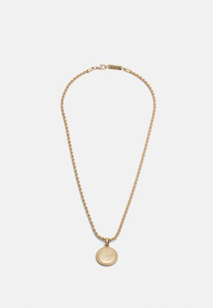 ROUND ROPE PENDANT WITH ENGRAVING - Ketting - gold-coloured