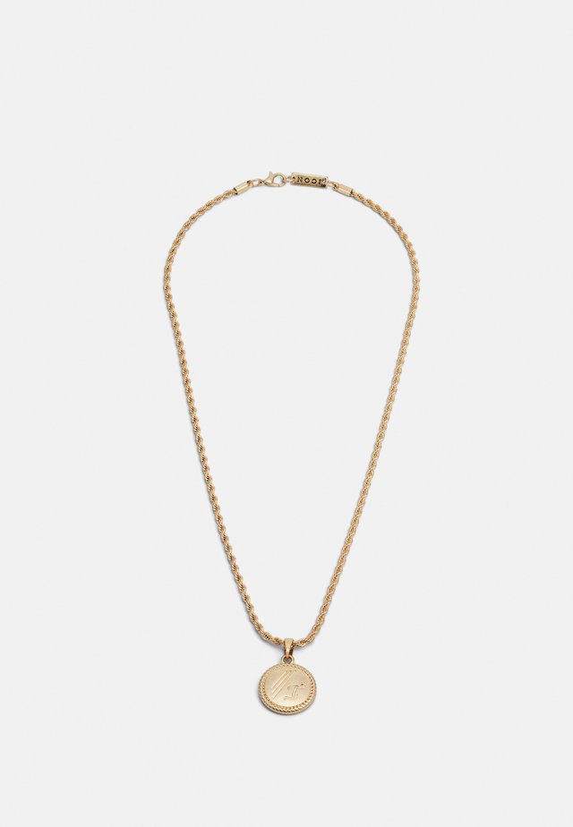 ROUND ROPE PENDANT WITH ENGRAVING - Collana - gold-coloured