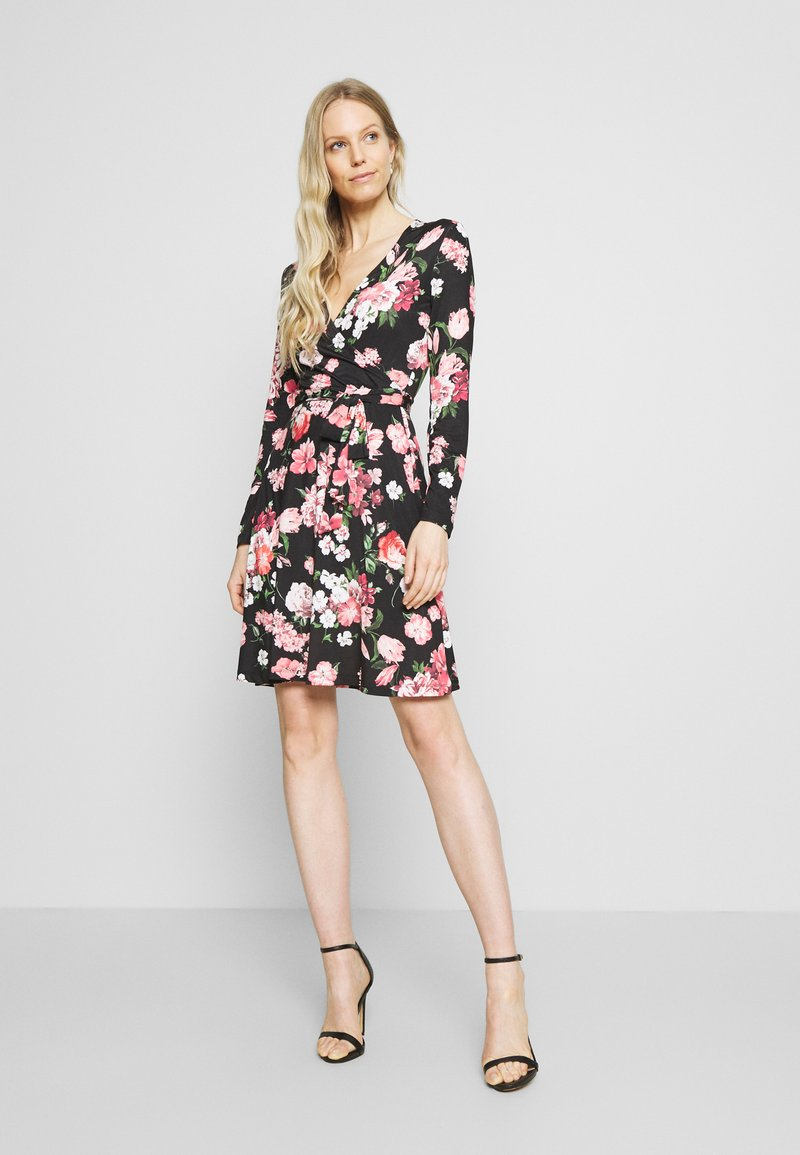 Anna Field - Day dress - black/pink