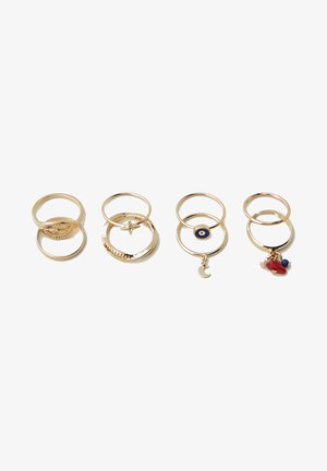 8 PACK - Ring - gold coloured