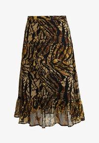 TASNIM SKIRT - A-line skirt - stripe yellow snake