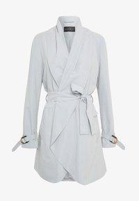 FEMININE COAT - Krótki płaszcz - grey blue
