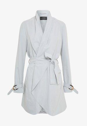 FEMININE COAT - Short coat - grey blue