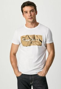 Pepe Jeans - RAURY - T-shirt med print - blanco - 0