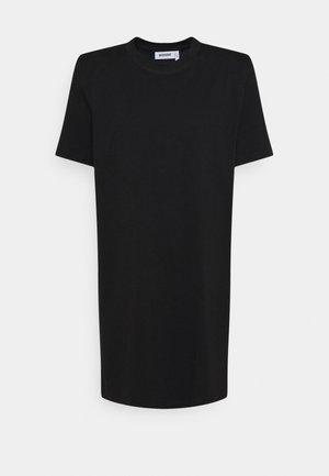KAHLO SHOULDER PAD DRESS - Robe en jersey - black