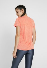 Under Armour - TECH TWIST - Basic T-shirt - peach plasma/metallic silver - 2